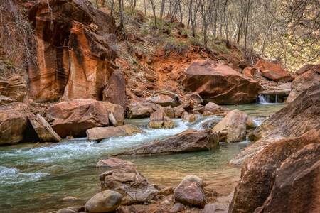 Part of the Virgin River in Zion National Park, Ut.
