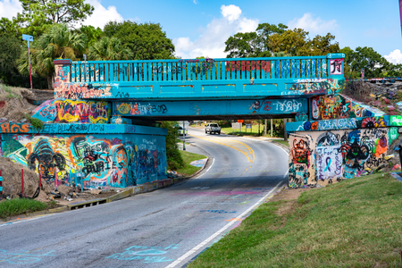 The Famous Graffitti Bridge, Pensacola Florida