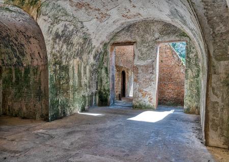 An interior view of Ft. Pickens, Fl Reklamní fotografie