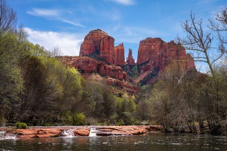 A look at Cathedral Rock from the Crescent Moon Picnic site on the Oak Creek