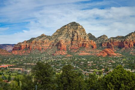 A view of Capitol Butte from the Airport Overlook, Sedona Arizona