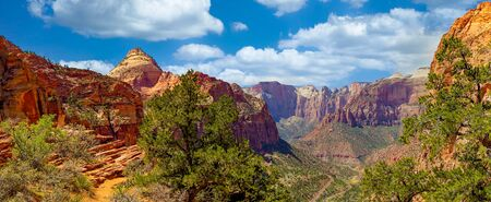 The end of the Canyon Overlook Trail at Zion National Park Фото со стока