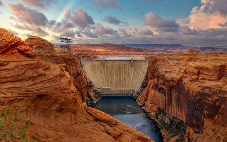 Glen Canyon National Recreation area encompasses Lake Powell and lower Cataract Canyon in Utah and Arizona.