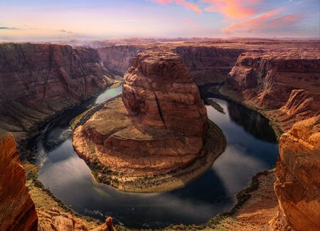 Horshoe bend canyon. Located in Page Arizona.