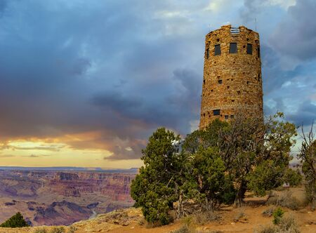 The Grand Canyon Desert View Watchtower constructed by Mary Colter