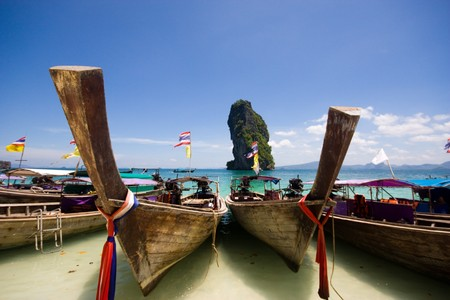 Boat at Por-da Island , Krabi Thailand Stock Photo - 7115569