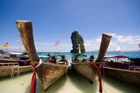 Boat at Por-da Island , Krabi Thailand Stock Photo - 7115569