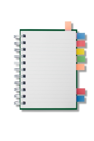 Blank page notebook and tag for separate Stock Photo