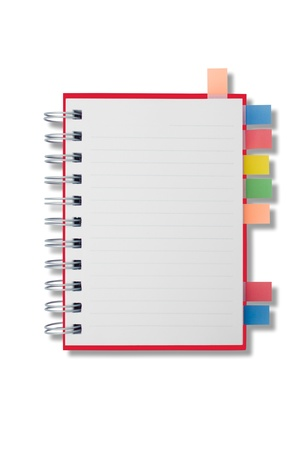 Mini blank page notebook and tag for separate III Stock Photo - 9359643