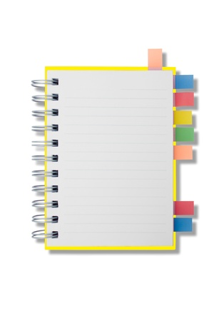 Blank page notebook and tag for separate Stock Photo - 9359645