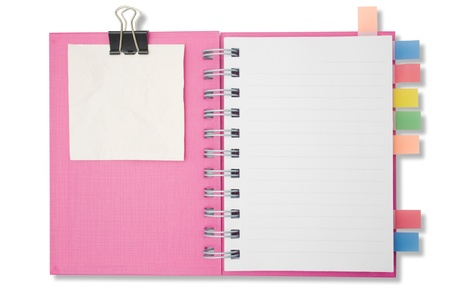 Blank page notebook and tag for separate2