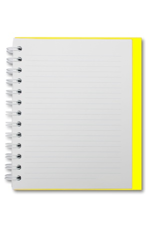 Mini blank page notebook photo