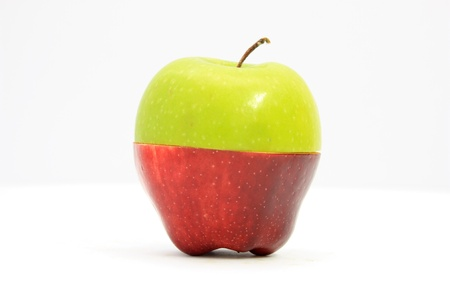 red  green: Green apple,red apple  Stock Photo