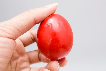 Red egg easter day photo