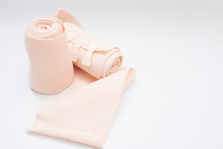 elbow brace: Elastic fabric Stock Photo