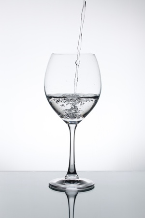 Champagne glass with water drop photo