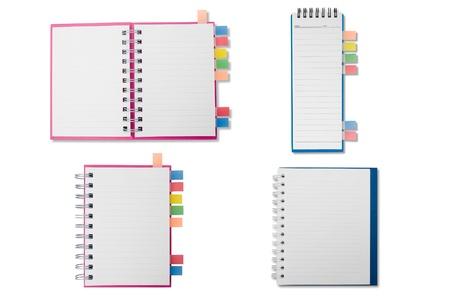 Merge notebook on white background Stock Photo - 9368067