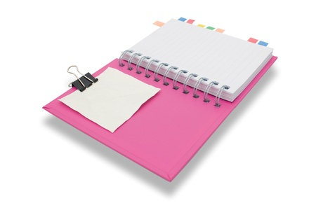 Blank page notebook and tag for separate 5 Stock Photo - 9431046