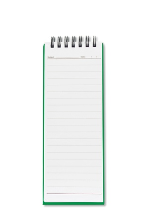 Mini blank page long shape notebook Stock Photo - 9429043