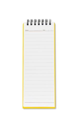 Mini blank page long shape notebook Stock Photo - 9431015
