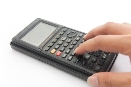 A calculator on white isolate