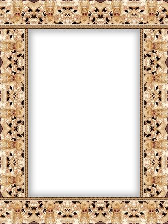 Pattern of dragon head frame II Stock Photo