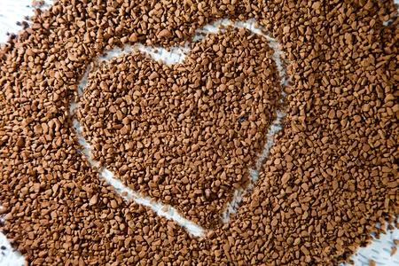 Coffee heart shape background photo