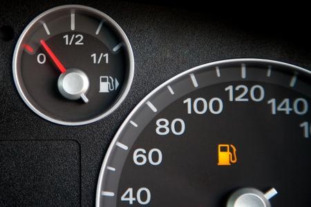 Alarm show fuel low