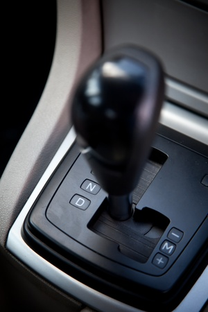 car transmission: Gear auto position N neutral Stock Photo