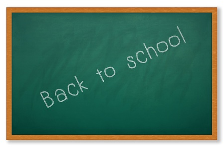 Back to school wording on chalkboard photo