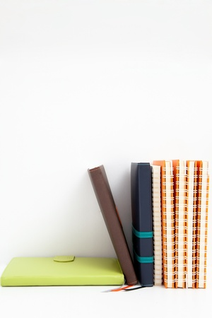 notebook stack on white isolated Stock Photo - 13462830