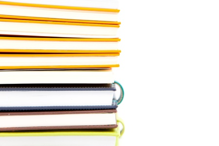 notebook stack on white isolated Stock Photo - 13704358