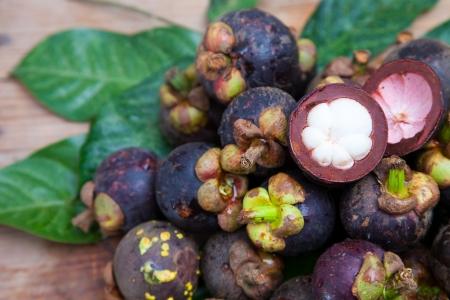 망고 스틴은 맛있는 태국 과일 중 하나입니다 스톡 콘텐츠