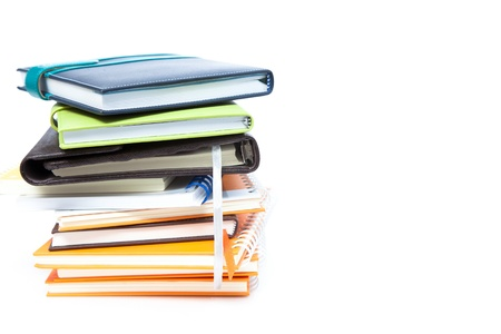 Book stack on white isolated Stock Photo - 14512577