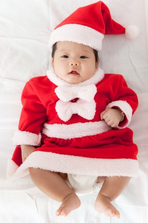 Little girl with santa costume Stock Photo - 16906211