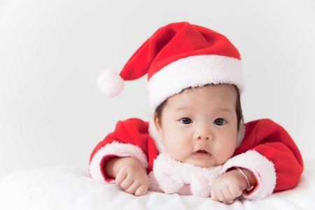Little girl with santa costume Stock Photo - 16906212
