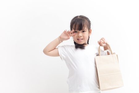 Girl is going to shopping