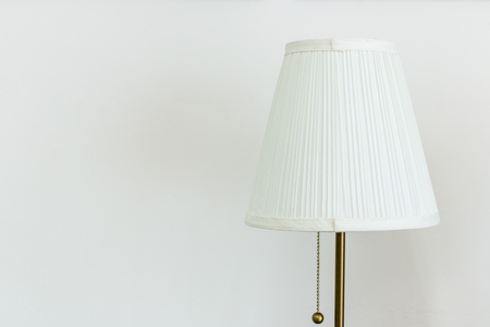 decorating: White table lamp on a white background.