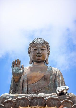 Tian Tan Buddha, Big Budda, The enormous Tian Tan Buddha at Po Lin Monastery in Hong Kong. The worlds tallest outdoor seated bronze Buddha located in Nong ping 360.