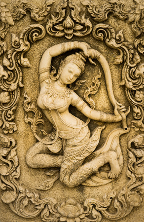 thaiart: thai sculpture background in temple