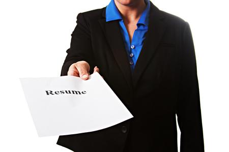 Businesswoman with resume Zdjęcie Seryjne