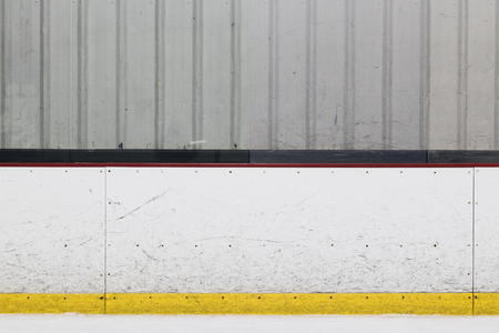 Ice Hockey Rink Wall Stock fotó