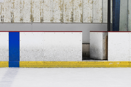 Ice Hockey Rink Wall Reklamní fotografie