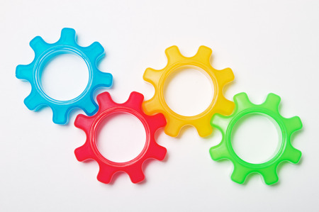 Colorful cog wheels Stock Photo