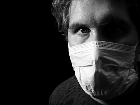 man with medical mask