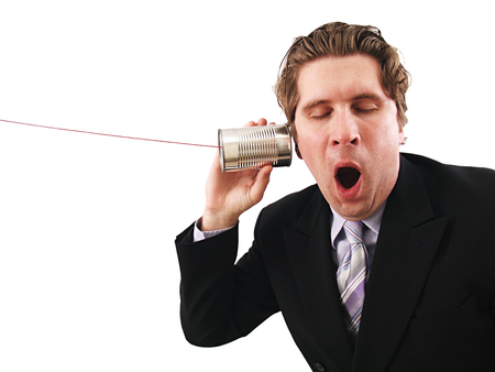 Man Listening on Can phone