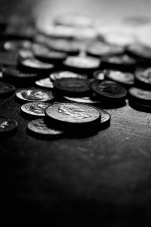 아무도없는 동전 돈 스톡 콘텐츠