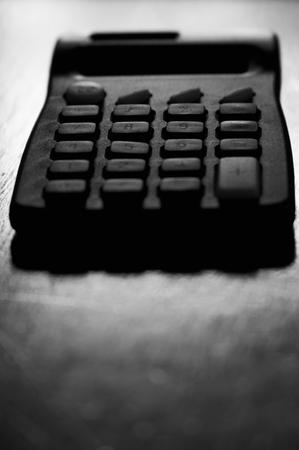 Calculator on a desk