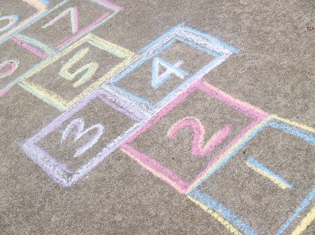 Hopscotch Game Background Stock Photo