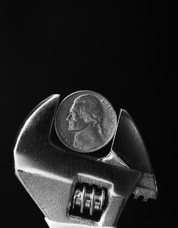 Concept de pincement d'argent Banque d'images - 94534688